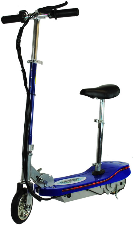 120w Zipper Kids Electric Scooter With Led Lights Blue