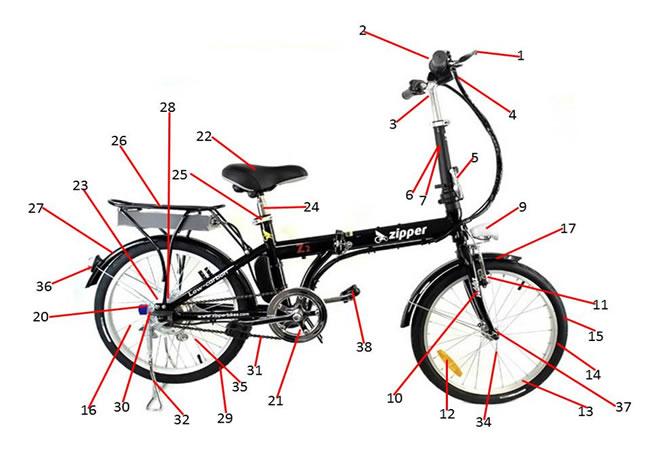 Zipper Z2 Electric Bike Spare Parts