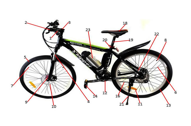 Zipper Z6 Electric Bike Spare Parts